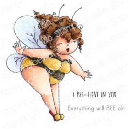 EB921 Stamping Bella Cling Stamps Edna The Bumblebee