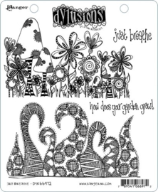 "568465 Dyan Reaveley's Dylusions Cling Stamp Collections Just Breathe 8.5""X7"""