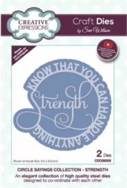 CED26009 Creative Expressions  Circle sayings craft die Strength