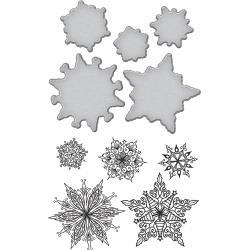 SBS089 Spellbinders Stamp & Die Set Snowflakes By Stephanie Low