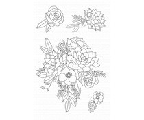 CS-441 My Favorite Things Fantasy Florals Clear Stamps
