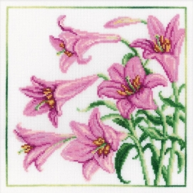 065710 Lilies Counted Cross Stitch Kit