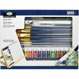 513903 Flat Easel Art Set Large Acrylic 25pc