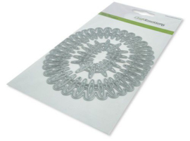 115633/0534 CraftEmotions Die - frame lang ovaal Cristal shine Card 10,5x14,8cm 10,1 x 11,2cm