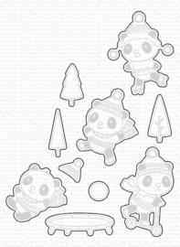 MFT1876 My Favorite Things Pandas at Play Die-Namics