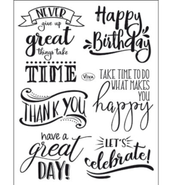 4003.169.00 ViVa Clear Stamps Lettering englisch
