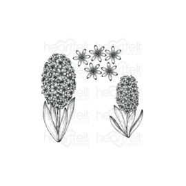HCPC3947 Heartfelt Creations Cling Rubber Stamp Set Fragrant Hyacinth