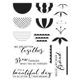 """649309 Hero Arts + Reverse Confetti Stamp Set Better Together 6""""X8"""""""