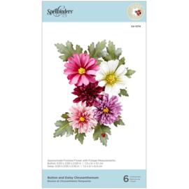 S41074 Spellbinders Etched Dies Chrysanthemum By Susan Tierney-Cockburn