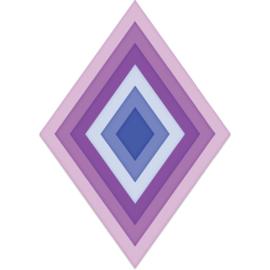 557956 Heartfelt Creations Cut & Emboss Dies Burst Of Spring-Diamond Basics