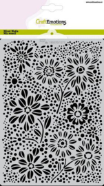 185070/1273 CraftEmotions Mask stencil flowers & dots A5