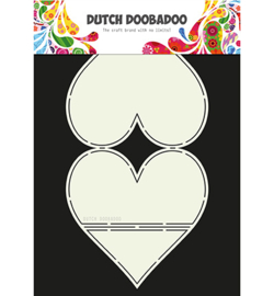 470.713.661 Dutch DooBaDoo Card Art Easel Card Heart