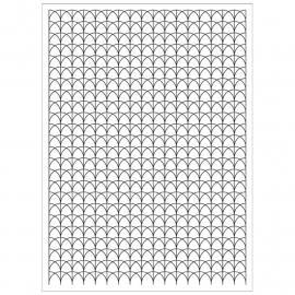 CG651 Basic Grey Aurora Cling Stamps Waves Background