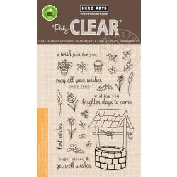 "HA-CM240 Hero Arts Clear Stamps Wishing Well 4""X6"""