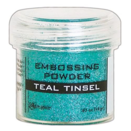 EPJ64589 Ranger Embossing Powder  Teal Tinsel