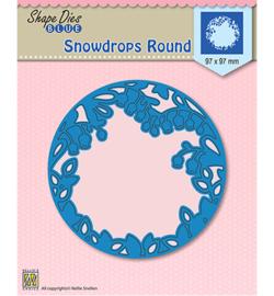 SDB009  Shape Dies Snowdrops round
