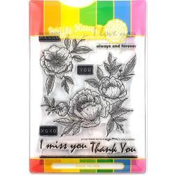 596484 Waffle Flower Stamp & Die Set Peony Notes