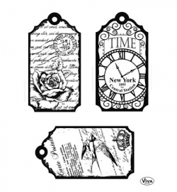 7031 Viva Decor Clear Stamps Tags Time