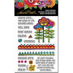 "247911 Stampendous Perfectly Clear Stamps Rubber Kindred Borders 7.25""X 4.625"""