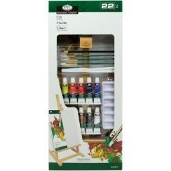 "513895 Easel Art Set Medium Oil ""H"" Set 22pc"