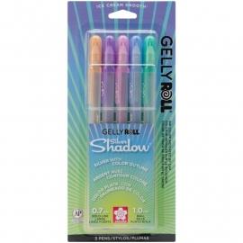 328084 Sakura Gelly Roll Silver Shadow Bold Point Pens