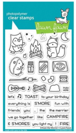 """LF2593 Lawn Fawn Clear Stamps S'more The Merrier 4""""X6"""""""