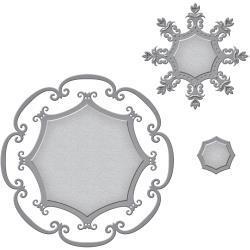 S5270 Spellbinders Nestabilities Decorative Elements Dies Framed Label 46