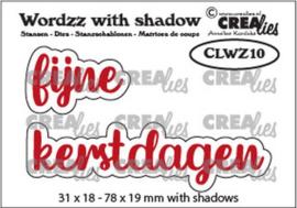 CLWZ10 Crealies Wordzz with Shadow Fijne Kerstdagen