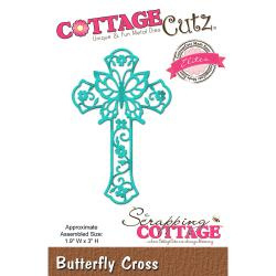 "303251 CottageCutz Elites Die Butterfly Cross, 1.9""X3"""
