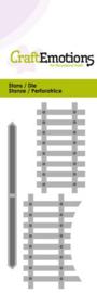 115633/0189 CraftEmotions Die - houten hek 2x Card 5x10cm