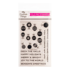 "CS519 My Favorite Things Vault Clear Stamps Ornament Banner Builder 4""X6"""