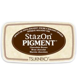 SZ-PIG-41 Tsukineko StazOn Pigment Chocolate Brown