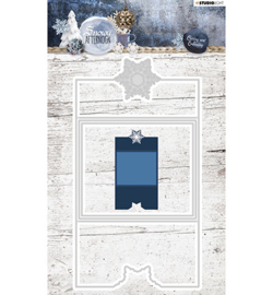 STENCILSA222 - Cutting and Embossing Die Cut, Snowy Afternoon nr.222
