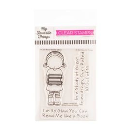 """PI320 My Favorite Things Pure Innocence Stamps Read Me Like A Book 3""""X4"""""""