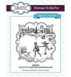 UMS886 Stempel Felicitys's Winter Wonderland