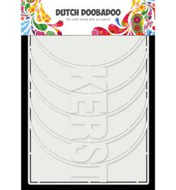 470.784.017 Dutch DooBaDoo  Card Art Kerst Album 6 set