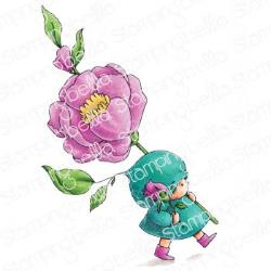 EB908 Stamping Bella Cling Stamps Bundle Girl With A Rose