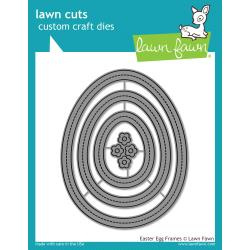 LF1628 Lawn Cuts Custom Craft Die Easter Egg Frames