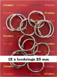115635/4725 Crealies Journalzz & Pl Boekringen 25 mm (12x) CLJP725 25mm