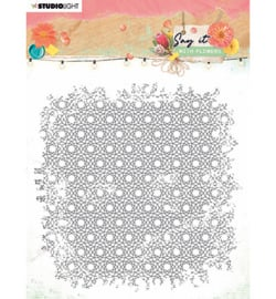 SL-SWF-STAMP528 StudioLight SL Clear Stamp background Say it with flowers nr.528