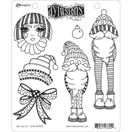 """DYR76940 Dyan Reaveley's Dylusions Cling Stamp Collections Any Old Elf 8.5""""X7"""""""