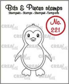 130504/0221 Crealies Bits & Pieces Pinguïn CLBP221 30x42mm