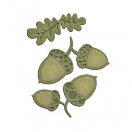 S2191 Spellbinders Shapeabilities Die D-Lites Acorn And Oak Leaf