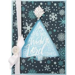 663162 Sizzix Framelits Die & Stamp Set Christmas Tree, Joy To The World By Katelyn Lizardi 8/Pkg