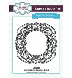 UMS825 Creative Expressions To Die For Stamp Michelle's Floral Ring