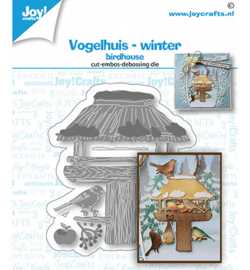 6002/1543 Joy! Crafts Stans debos-embosmal Vogelhuis winter