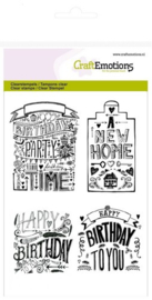 130501/1259 CraftEmotions clearstamps A6 new home handlettering (Eng)