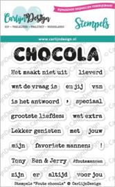 CDST-0065 CarlijnDesign Stempels Foute Chocola