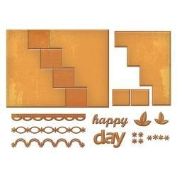 S7201 Spellbinders Card Creator Step Card Happy Days