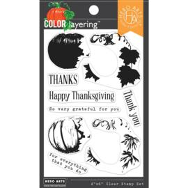663180 Hero Arts Clear Stamp Color Layering Pumpkin